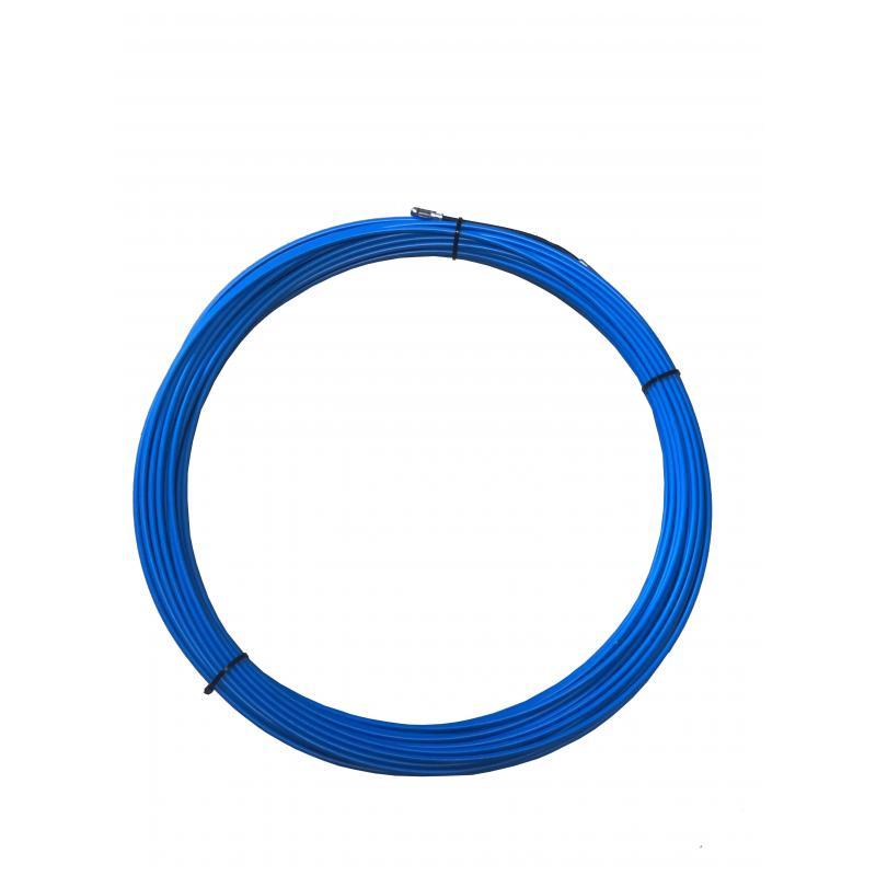 Tire-fils en acier/nylon 4 mm L 20 M sans dévidoir + 2 embouts M5, une tête flexible et un oeillet