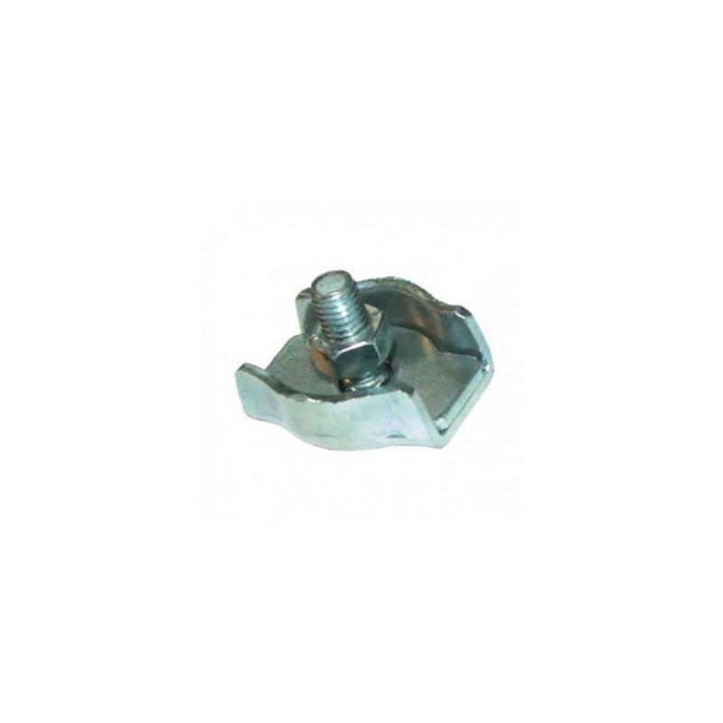 5 pcs acier inoxydable serre-câbles plat a 1 boulon 8mm inox